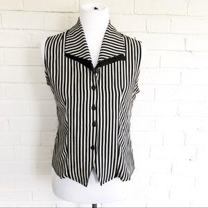 Vintage 90s Abbigail striped retro boss blouse